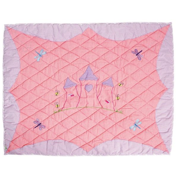 Children's Win Green Large Princess Castle Floor Quilt